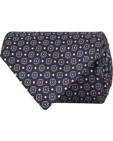 Eton Flower Silk 8cm Tie Navy  i gruppen Accessoarer / Slipsar hos Care of Carl (13286810)