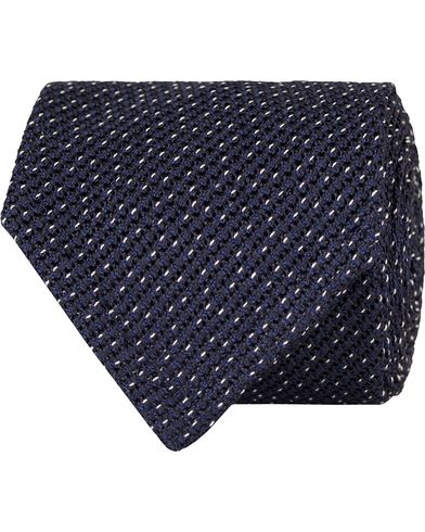 Eton Grenadine Untipped 8cm Tie Blue  i gruppen Assesoarer / Slips hos Care of Carl (13287710)