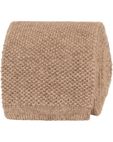 Eton Knitted Cashmere 6cm Tie Camel  i gruppen Accessoarer / Slipsar hos Care of Carl (13287810)