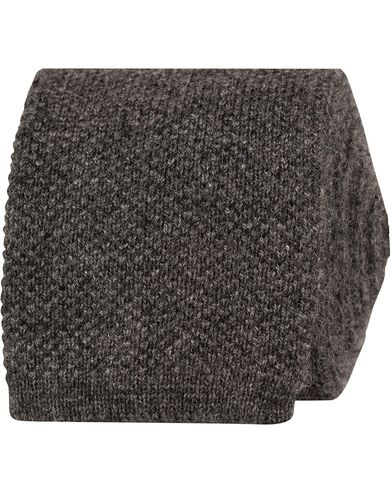 Eton Knitted Cashmere 6cm Tie Antracite Grey  i gruppen Accessoarer / Slipsar hos Care of Carl (13287910)