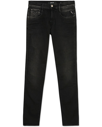 Replay M914 Anbass Hyperflex Jeans Black i gruppen Jeans / Smala jeans hos Care of Carl (13288511r)