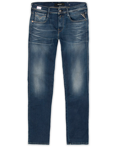 Replay M914 Anbass Hyperflex Jeans Dark Blue i gruppen Jeans / Smala jeans hos Care of Carl (13288711r)