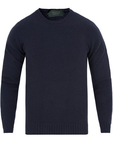 Zanone Crew Neck Virgin Wool Navy i gruppen Tr�jor / Pullover / Pullover Rundhals hos Care of Carl (13289711r)