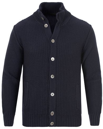 Zanone Wool Button Cardigan Navy i gruppen Gensere / Cardigans hos Care of Carl (13289911r)