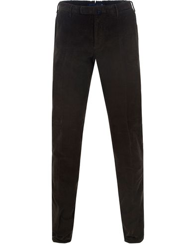 Incotex Garment Dyed Corduroy Trousers Olive Green i gruppen Byxor / Manchesterbyxor hos Care of Carl (13290011r)