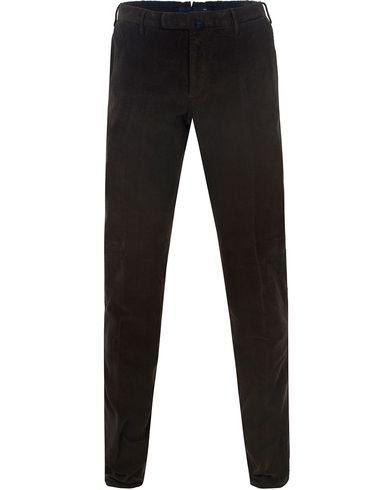 Incotex Garment Dyed Corduroy Trousers Olive Green i gruppen Bukser / Cordfløyelbukse hos Care of Carl (13290011r)