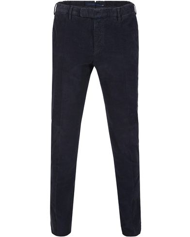 Incotex Garment Dyed Corduroy Trousers Navy i gruppen Byxor / Uddabyxor hos Care of Carl (13290111r)