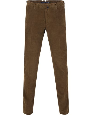 Incotex Garment Dyed Corduroy Trousers Brown i gruppen Kläder / Byxor / Manchesterbyxor hos Care of Carl (13290211r)