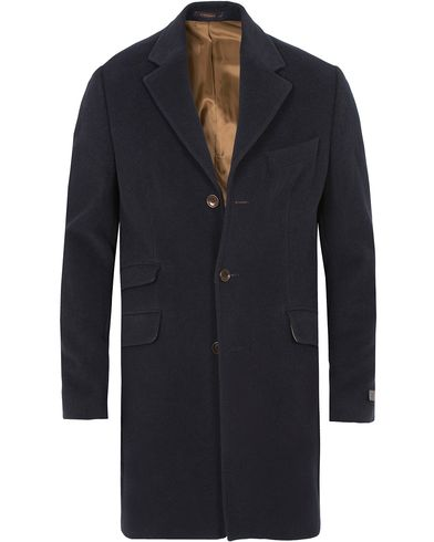 Morris William Wool Coat Navy i gruppen Jakker / Vinterjakker hos Care of Carl (13290311r)
