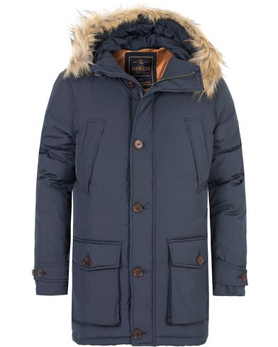 Morris Wiltshire Down Jacket Old Blue i gruppen Kläder / Jackor / Parkas hos Care of Carl (13291311r)