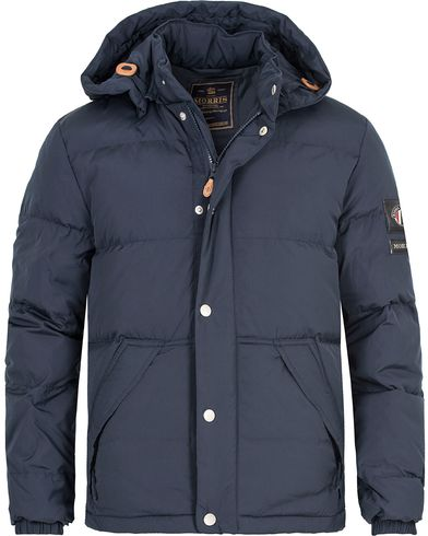 Morris Bromley Down Jacket Old Blue i gruppen Klær / Jakker / Vatterte jakker hos Care of Carl (13291411r)