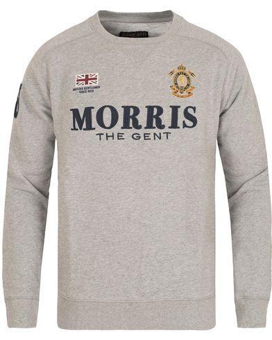 Morris Gent Sweatshirt Grey Melange i gruppen Gensere / Sweatshirts hos Care of Carl (13292911r)