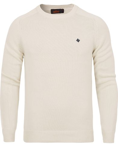 Morris Lily Cotton Knit Oneck Off White i gruppen Tröjor / Pullovers / Rundhalsade pullovers hos Care of Carl (13293611r)