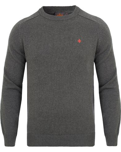 Morris Lily Cotton Knit Oneck Dark Grey i gruppen Kläder / Tröjor / Pullovers / Rundhalsade pullovers hos Care of Carl (13293811r)