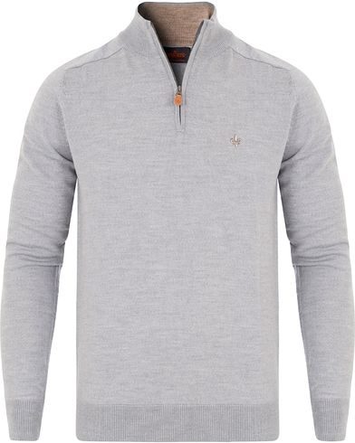 Morris Merino John Half Zip Sweater Grey i gruppen Klær / Gensere / Zip-gensere hos Care of Carl (13294011r)