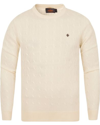 Morris Merino Cable O-neck Off White i gruppen Gensere / Strikkede gensere hos Care of Carl (13294111r)