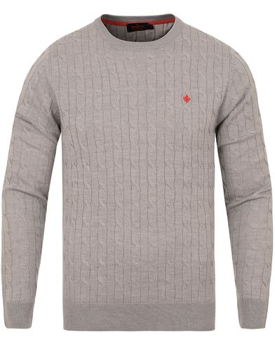 Morris Merino Cable O-neck Grey i gruppen Klær / Gensere / Strikkede gensere hos Care of Carl (13294411r)