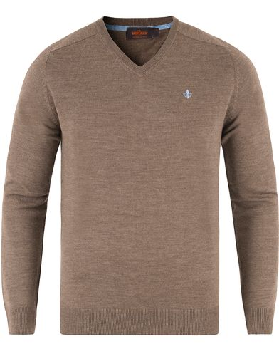 Morris Merino V-neck Brown i gruppen Tröjor / Pullovers / V-ringade pullovers hos Care of Carl (13295111r)