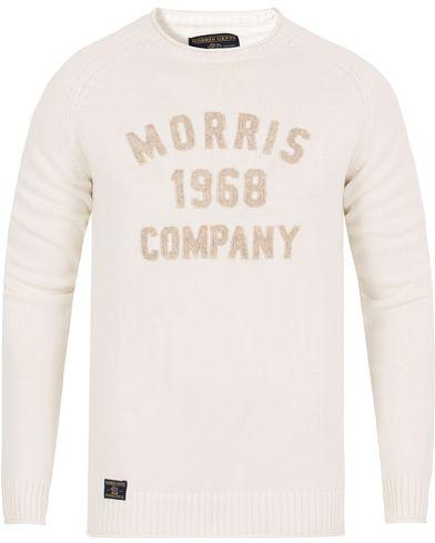 Morris Cooper Oneck Off White i gruppen Kläder / Tröjor / Stickade tröjor hos Care of Carl (13296411r)