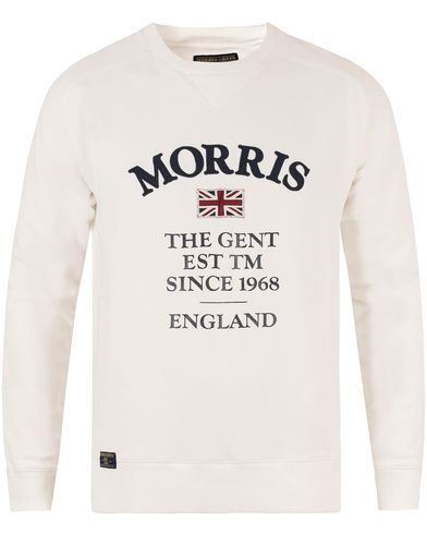 Morris William Sweatshirt Off White i gruppen Tröjor / Sweatshirts hos Care of Carl (13297111r)