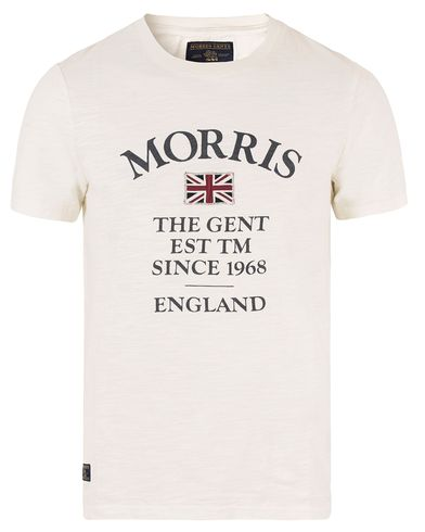 Morris William Tee Off White i gruppen T-Shirts hos Care of Carl (13297511r)