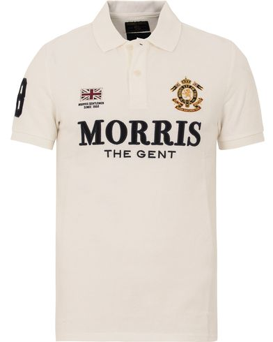 Morris Gent Polo Off White i gruppen Pikéer / Kortermet piké hos Care of Carl (13298111r)