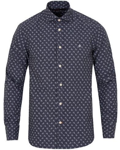 Morris New Barrel Indigo Shirt Paisley i gruppen Skjortor / Casual Skjortor hos Care of Carl (13298911r)