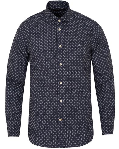Morris New Barrel Indigo Shirt Flower i gruppen Skjorter / Casual Skjorter hos Care of Carl (13299011r)