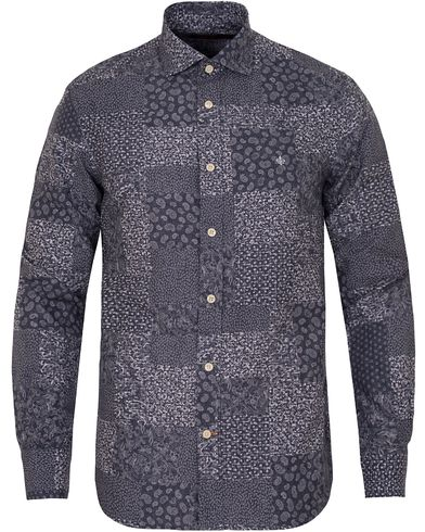 Morris New Barrel Indigo Shirt Patchwork i gruppen Skjorter / Casual skjorter hos Care of Carl (13299111r)