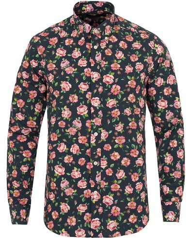 Morris Douglas Printed Flower Shirt Light Pink/Navy i gruppen Klær / Skjorter / Casual skjorter hos Care of Carl (13299211r)