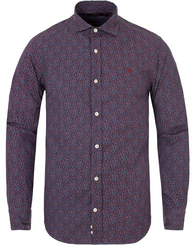 Morris New Barrel Micro Flower Print Shirt Red i gruppen Skjorter / Casual skjorter hos Care of Carl (13299311r)