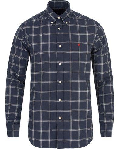 Morris Douglas Check Shirt Blue i gruppen Klær / Skjorter / Flanellskjorter hos Care of Carl (13299611r)