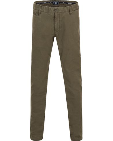 Morris New Slim Chinos Olive i gruppen Bukser / Chinos hos Care of Carl (13301011r)