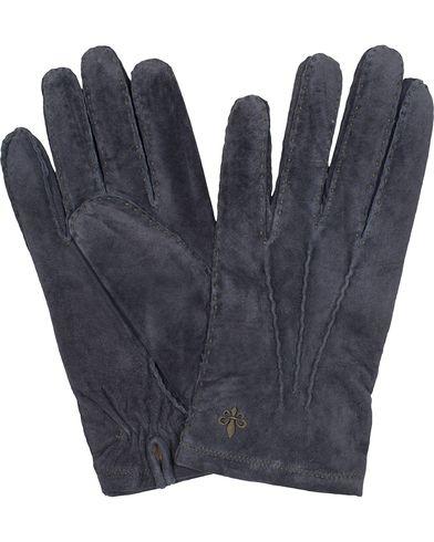 Morris Suede Gloves Navy i gruppen Säsongens nyckelplagg / Promenadhandskarna hos Care of Carl (13301411r)