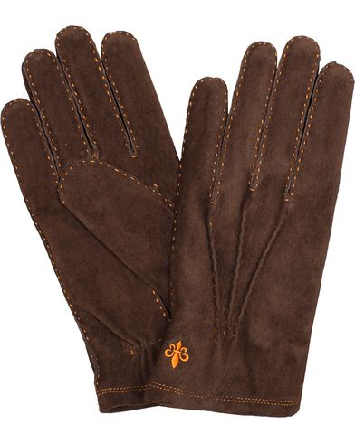 Morris Suede Gloves Brown i gruppen S�songens nyckelplagg / Promenadhandskarna hos Care of Carl (13301511r)