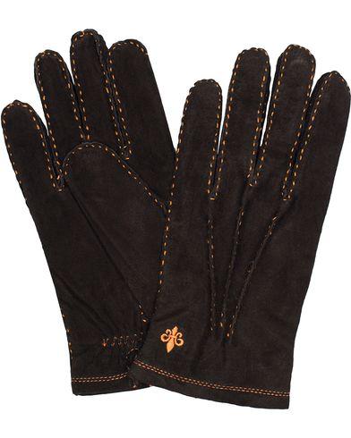 Morris Suede Gloves Black i gruppen Sesongens nøkkelplagg / Hanskene til spaserturen hos Care of Carl (13301611r)