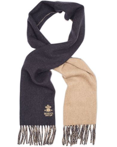Morris Double Face Scarf Navy  i gruppen Accessoarer / Halsdukar hos Care of Carl (13301710)
