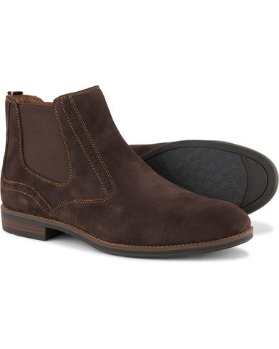 Tommy Hilfiger Colton Zip Chelsea Boot Coffe Bean Suede i gruppen Skor / Kängor / Chelsea boots hos Care of Carl (13303111r)