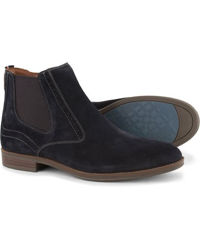 Tommy Hilfiger Colton Zip Chelsea Boot Midnight Suede i gruppen Skor / Kängor / Chelsea boots hos Care of Carl (13303211r)