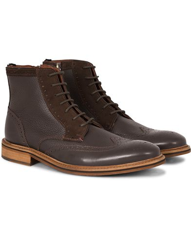 Tommy Hilfiger Hampton Brouge Boot Coffe Bean Leather i gruppen Skor / Kängor / Snörkängor hos Care of Carl (13303911r)