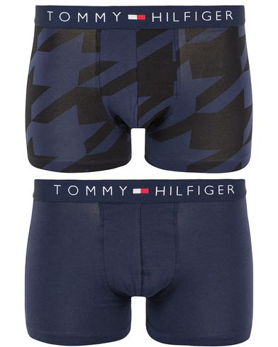 Tommy Hilfiger Icon Trunk 2-Pack Print Peacoat i gruppen Underkläder / Kalsonger hos Care of Carl (13304611r)