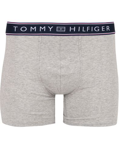 Tommy Hilfiger Cotton Flex Stripe Boxer Brief Grey Heather i gruppen Klær / Undertøy / Underbukser hos Care of Carl (13304811r)