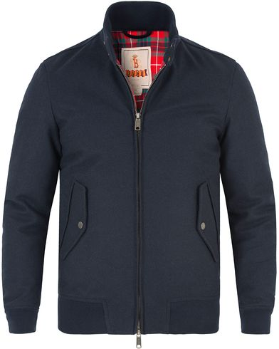 Baracuta G9 Original Harrington Wool Jacket Marine i gruppen Jackor / Tunna jackor hos Care of Carl (13305411r)