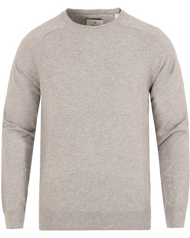 GANT Diamond G Cotton/Cashmere Crew Neck Light Grey Melange i gruppen Klær / Gensere / Pullover / Pullovere rund hals hos Care of Carl (13307111r)