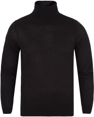 Gant Diamond G Lux Turtleneck Black i gruppen Tr�jor / Polotr�jor hos Care of Carl (13308511r)