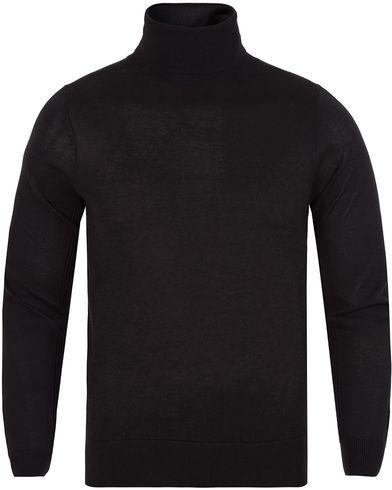 Gant Diamond G Lux Turtleneck Black i gruppen Design A / Gensere / Pologensere hos Care of Carl (13308511r)