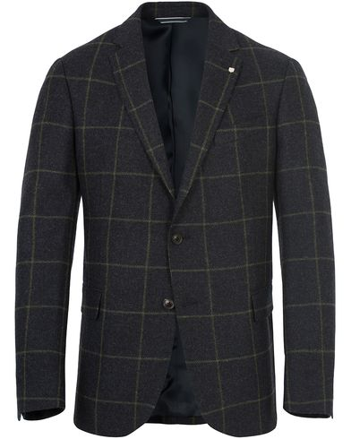 Gant The Window Check Blazer Marine i gruppen Dressjakker / Enkeltspente dressjakker hos Care of Carl (13310511r)