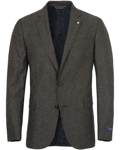 Gant CS Salt And Pepper Tailored Blazer Charcoal Melange i gruppen Kavajer / Enkelknäppta kavajer hos Care of Carl (13310611r)
