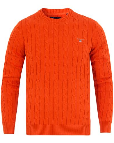 Gant Cotton Cable Crew Pullover Pumkin Orange i gruppen Tröjor / Pullovers / Rundhalsade pullovers hos Care of Carl (13311411r)