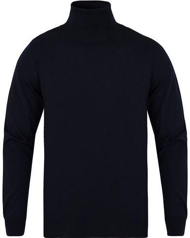 GANT Fine Merino Wool Turtleneck Black i gruppen Kläder / Tröjor / Polotröjor hos Care of Carl (13312111r)